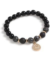 TOPMAN Beaded Charm Bracelet - Black