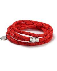TOPMAN - Red Abseil Bracelet - Lyst
