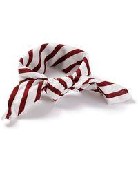 TOPMAN - Red Stripe Bandana - Lyst