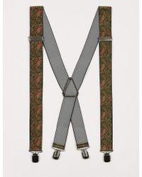TOPMAN - Paisley Suspender - Lyst