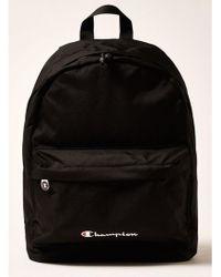 TOPMAN - Champion Black Backpack - Lyst