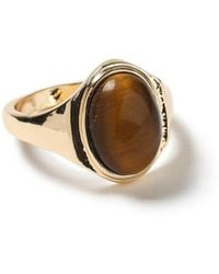 TOPMAN - Gold Cocktail Ring - Lyst