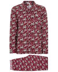 TOPMAN Christmas 'bah Humpug' Pajamas - Red