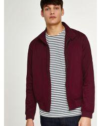 TOPMAN - Burgundy Harrington Jacket - Lyst