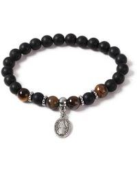 TOPMAN - Beaded Charm Bracelet - Lyst