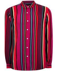 TOPMAN - Multi Stripe Slim Shirt - Lyst