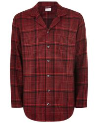 TOPMAN - Calvin Klein's Red Check Pyjama Top - Lyst