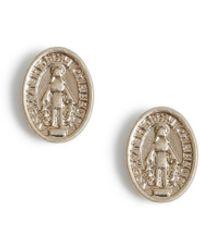 TOPMAN Gold Engraved Earrings - Metallic