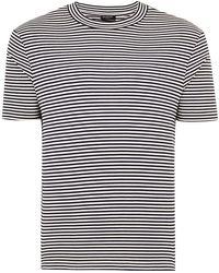TOPMAN - Elected Homme Navy Stripe Organic Cotton T-shirt - Lyst
