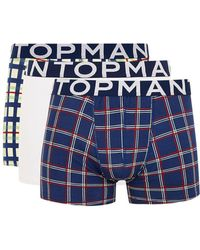 TOPMAN - Assorted Check Trunks 3 Pack - Lyst