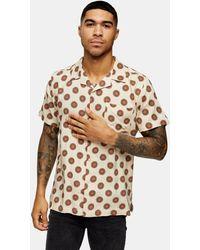 Bellfield Geometric Print Revere Shirt - Multicolour