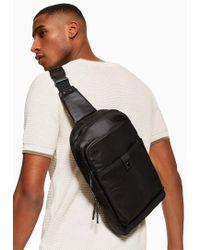 TOPMAN Champion s Black Cross Body Bag in Black for Men - Lyst 73f6a7f823a85