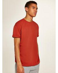 fe029f93 Topman Rust Slub Muscle Roller T-shirt in Orange for Men - Lyst