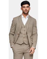 TOPMAN - Check Skinny Suit Jacket With Notch Lapels - Lyst