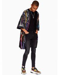 Jaded - Multicoloured Sequin Kimono - Lyst