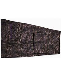 TOPMAN And Black Jacquard Skinny Fit Suit Trouser - Purple