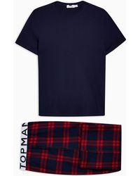 TOPMAN Two-piece Pajama Set - Blue