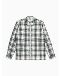 TOPMAN - Blue And White Check Shirt - Lyst