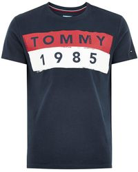 TOPMAN - Tommy Jeans Navy T-shirt - Lyst