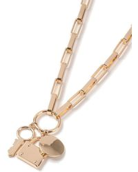 TOPMAN - Gold Lock Necklace - Lyst