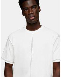 TOPMAN - Contrast Stitch T-shirt - Lyst