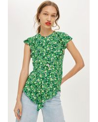 TOPSHOP - Field Floral Print Blouse - Lyst