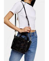 TOPSHOP Gala Tpu Black Weave Grab Bag