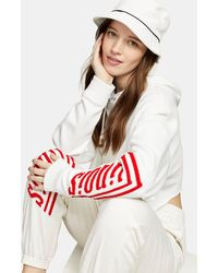 TOPSHOP Illinois Hoodie In White
