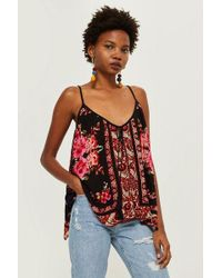 Band Of Gypsies - Rose Mix Print Camisole Top By - Lyst