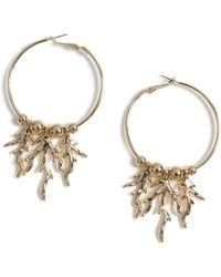 b503ce320 TOPSHOP Hoop And Chain Drop Earrings By Orelia in Metallic - Lyst