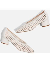 TOPSHOP - Joice Woven Mid Heel Shoes - Lyst