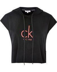 CALVIN KLEIN 205W39NYC - Cropped Logo Hoodie By - Lyst