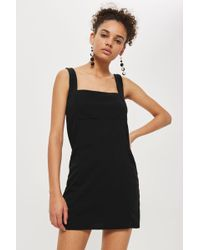 Oh My Love - Black Pinafore Mini Dress By - Lyst