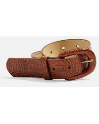 TOPSHOP - Crocodile Buckle Belt - Lyst
