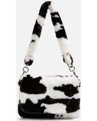 TOPSHOP - Teddy Faux Fur Cow Shoulder Bag - Lyst eb7f4f8d04fe8