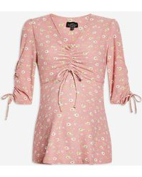 TOPSHOP - Maternity Floral Blouse - Lyst