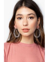 TOPSHOP beaded Flower Earrings - Multicolour