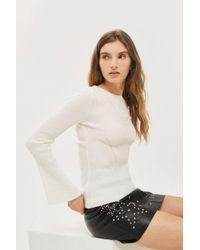 TOPSHOP - Petite Flute Sleeve Sweater - Lyst
