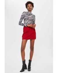 7f1dcf6a7c80 Lyst - Topshop Petite Green Denim Skirt in Green