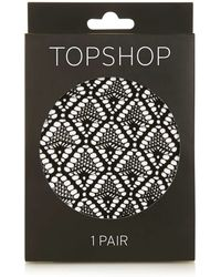 TOPSHOP - Diamond Lace Tights - Lyst