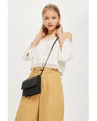 TOPSHOP - Leather Braided Cross Body Bag - Lyst