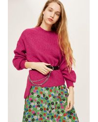 TOPSHOP - Cut And Sew Sweat Top - Lyst
