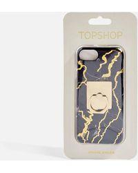 TOPSHOP - Marble Print Phone Case - Lyst
