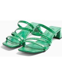TOPSHOP Dixie Strappy Sandal - Green
