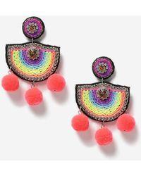 TOPSHOP - Bright Woven Drop Earrings - Lyst