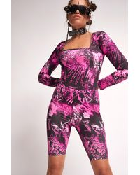 Jaded London Rosa Cycling-Shorts mit Totenkopf-Print von - Pink