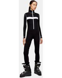 TOPSHOP Combinaison en jersey, Sno - Noir