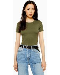 TOPSHOP - Everyday T-shirt - Lyst