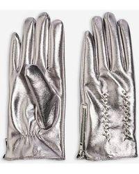 TOPSHOP - Metallic Gloves - Lyst