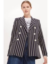 TOPSHOP - Striped Jacket - Lyst